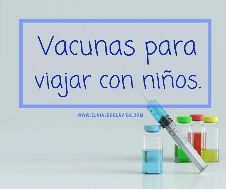vacunas para viajar con niños