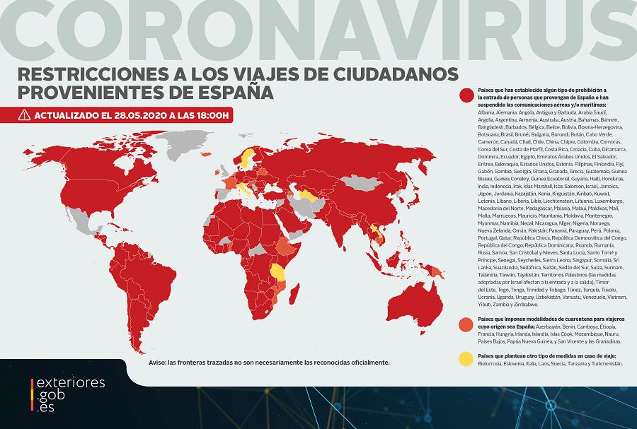 países que permiten la entrada a españoles coronavirus