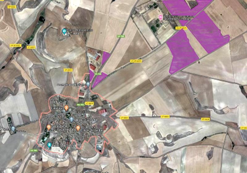mapa campos de lavanda de tiedra