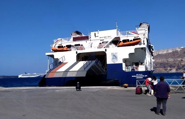 Cómo llegar al puerto de Santorini