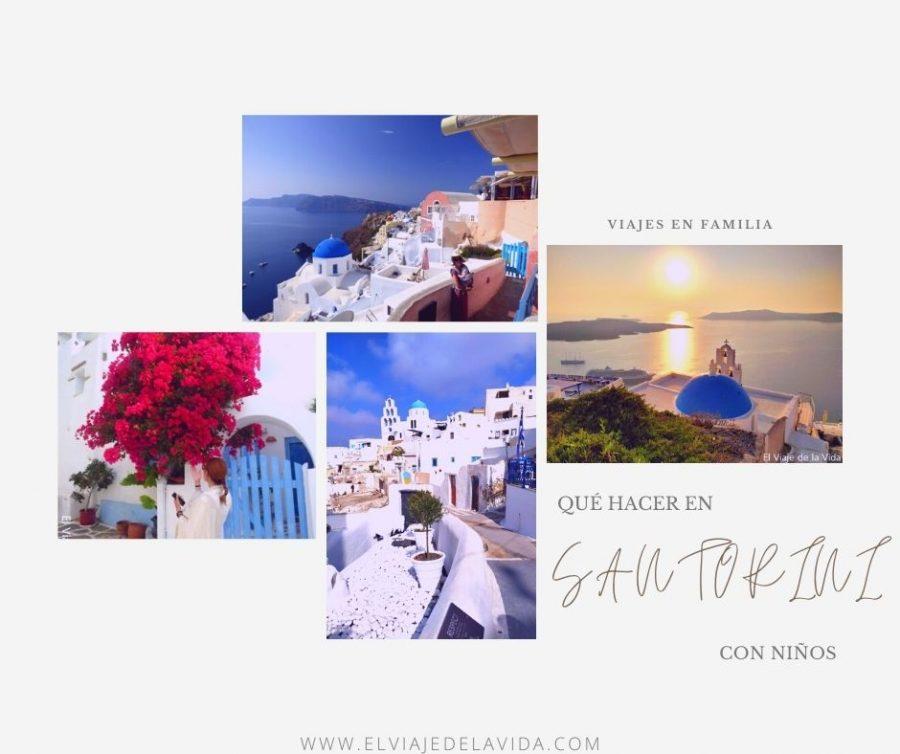 viajar a Santorini con niños