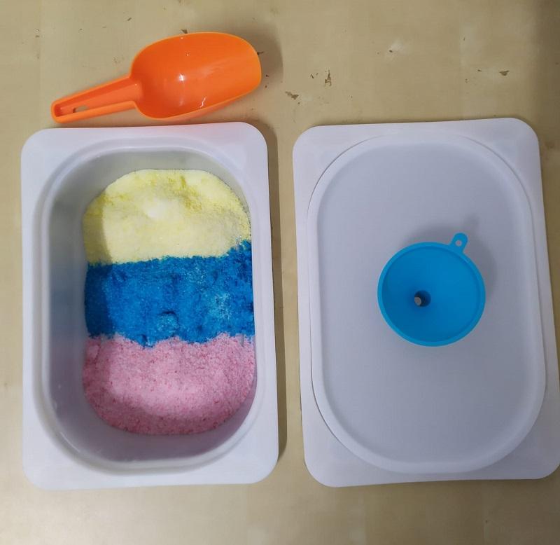 como hacer sal de colores