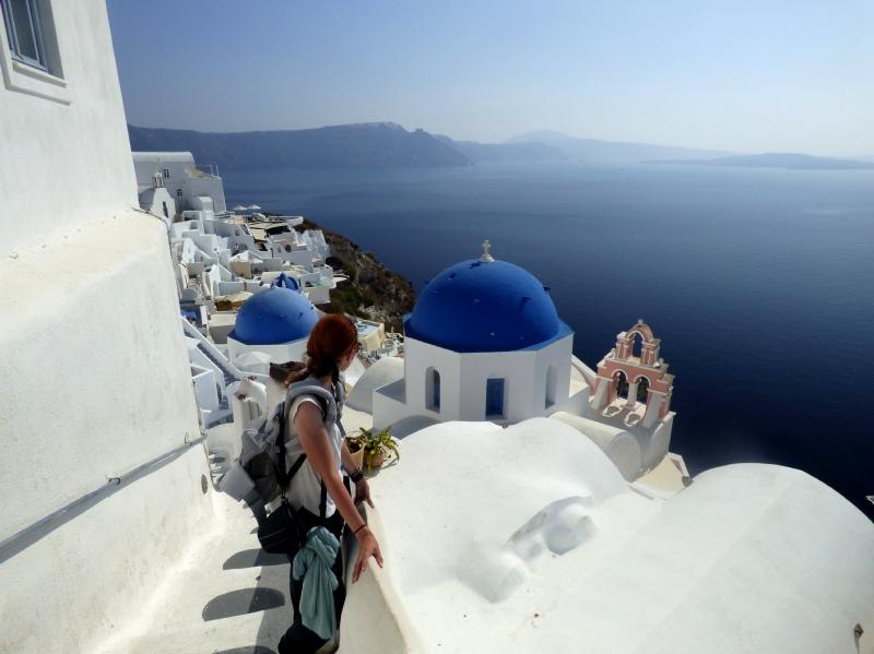 ir de viaje con niños a Santorini